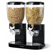 Dispensador de cereales doble  marca Zevro color negro