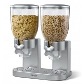 Dispensador de cereales doble marca Zevro color plata