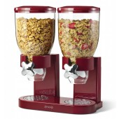 Dispensador de cereales doble marca Zevro color rojo